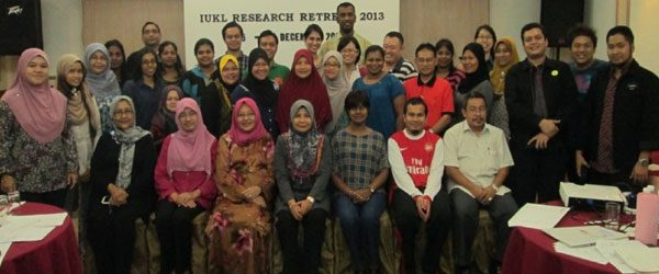 All the participants of the research workshop @ Mahkota Hotel, Malacca, 2013