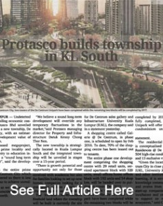 Protasco builds township in KL South - Media News - IUKL