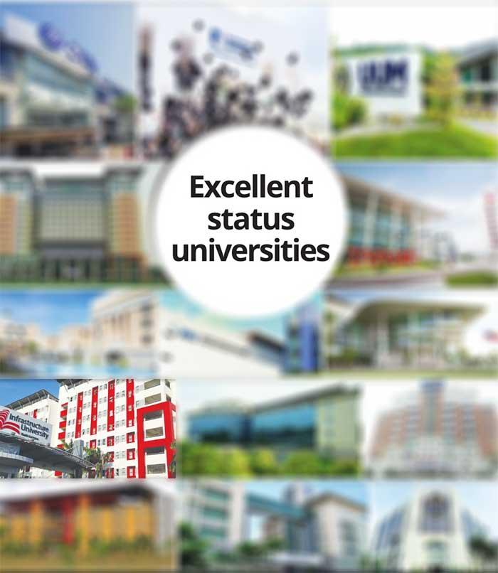 SETARA Tier 5 - Excellent status universities