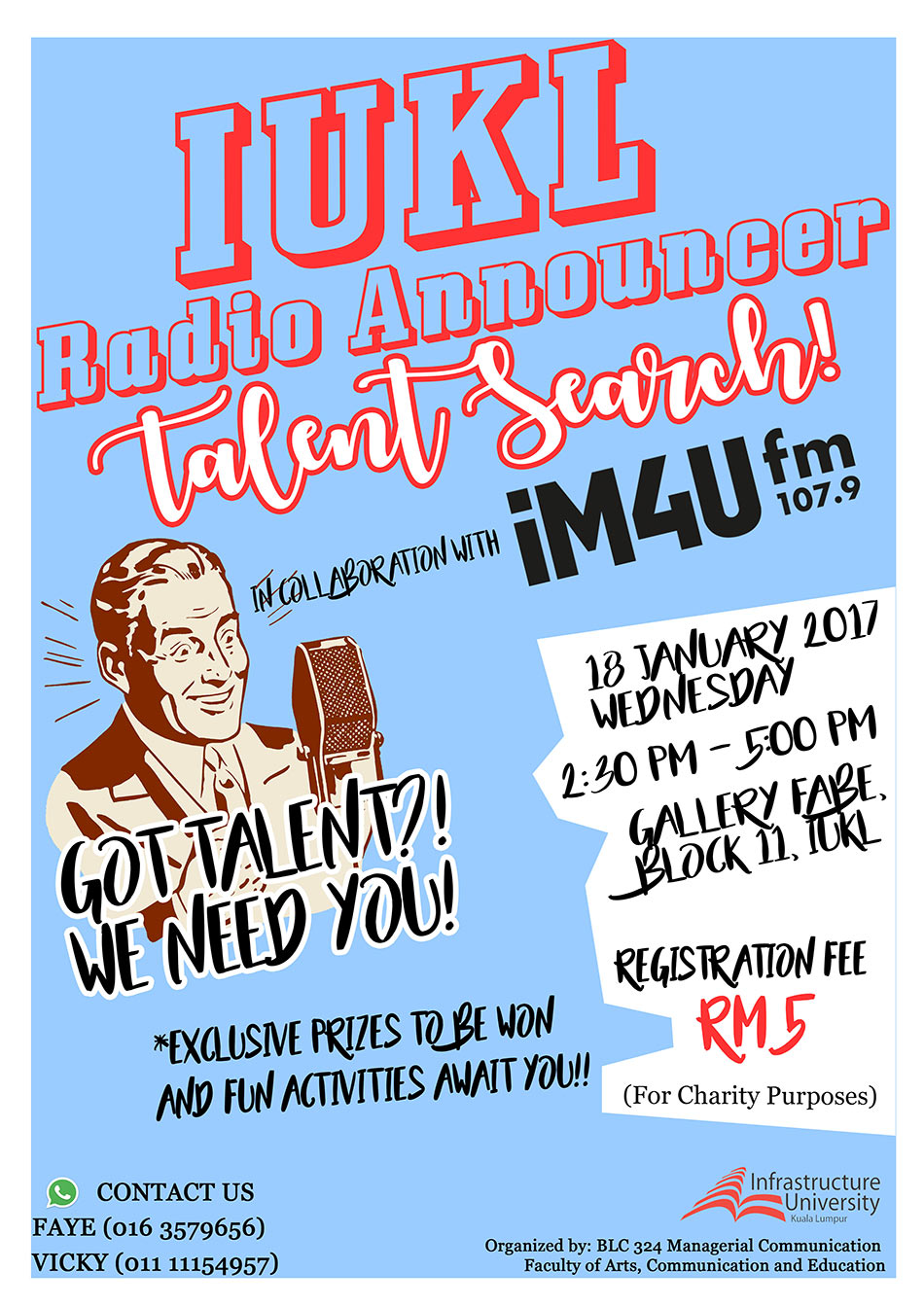 IUKL Radio Announcer Talent Search!