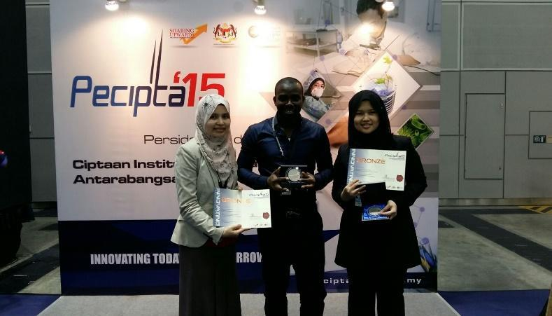 2 BRONZE MEDALS @ The 14th International Conference and Exposition on Inventions by Institutions of Higher Learning (PECIPTA 2015)