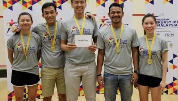 CHAMPION, DIVISION 2 CATEGORY @ 1Malaysia IPT Squash, Team Tournament 2016