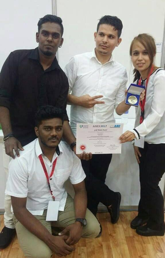 GOLD MEDAL @ Advanced Innovation & Engineering Exhibition (AiNEX 2017)