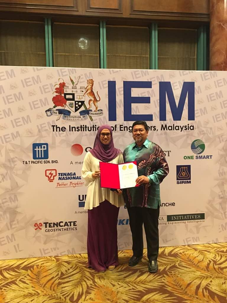 PRESIDENT GOLD AWARD @ The Institution of Engineers Malaysia (IEM) 2018