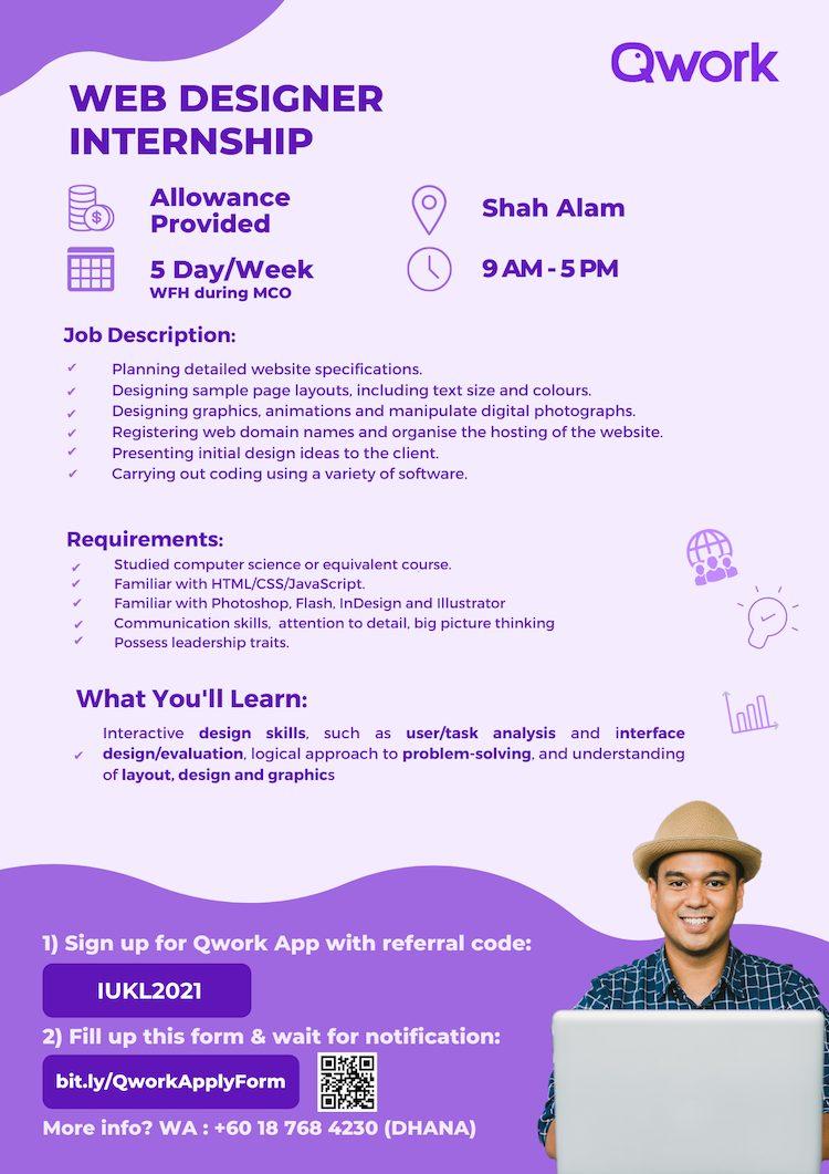 Web Designer Internship